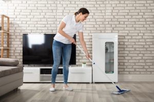 What is the best way to clean a hardwood floor