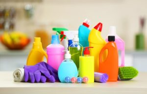 How can I safely use cleaning chemicals?