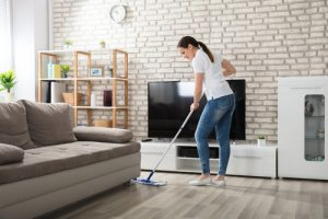 What is the easiest way to clean a living room