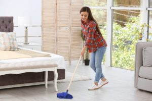 What is the proper way to clean a bedroom