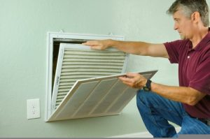 What causes poor air quality in a home?