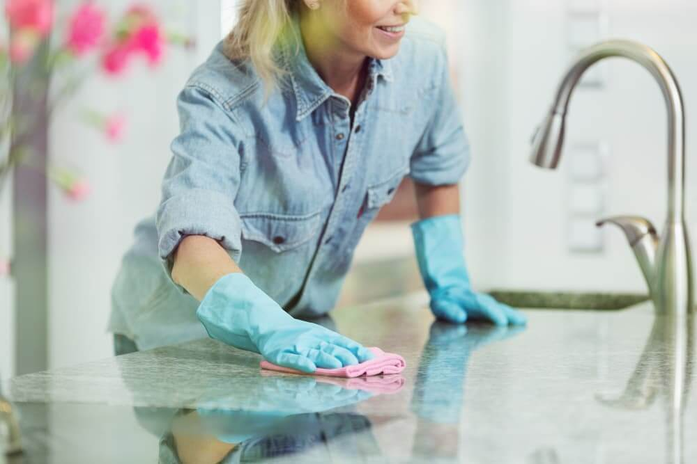 How do you deep clean countertops